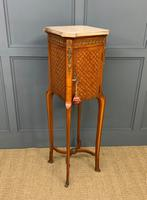 French Marble Topped Satinwood Cabinet c.1900 (10 of 14)