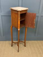 French Marble Topped Satinwood Cabinet c.1900 (12 of 14)