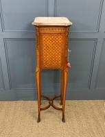 French Marble Topped Satinwood Cabinet c.1900 (13 of 14)