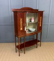 Inlaid Mahogany Arts & Crafts Display Cabinet (9 of 12)