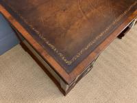 Flame Mahogany Pedestal Desk by Maple & Co (8 of 16)