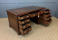 Flame Mahogany Pedestal Desk by Maple & Co (11 of 16)