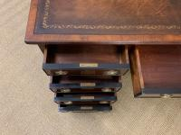 Flame Mahogany Pedestal Desk by Maple & Co (12 of 16)