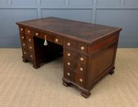 Flame Mahogany Pedestal Desk by Maple & Co (14 of 16)
