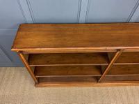 Large Victorian Golden Oak Open Bookcase (3 of 11)