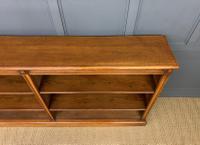Large Victorian Golden Oak Open Bookcase (4 of 11)