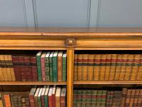 Large Victorian Golden Oak Open Bookcase (6 of 11)