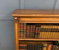Large Victorian Golden Oak Open Bookcase (7 of 11)