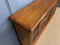 Large Victorian Golden Oak Open Bookcase (8 of 11)