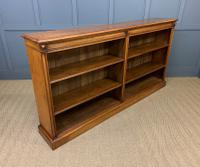 Large Victorian Golden Oak Open Bookcase (11 of 11)