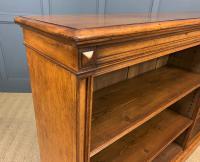 Large Victorian Golden Oak Open Bookcase (10 of 11)