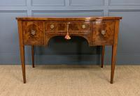 Sheraton Revival Inlaid Mahogany Serpentine Side Table (2 of 12)