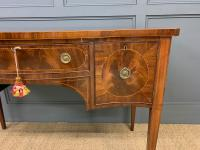 Sheraton Revival Inlaid Mahogany Serpentine Side Table (4 of 12)