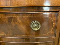 Sheraton Revival Inlaid Mahogany Serpentine Side Table (6 of 12)