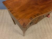 Sheraton Revival Inlaid Mahogany Serpentine Side Table (10 of 12)