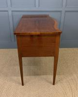 Sheraton Revival Inlaid Mahogany Serpentine Side Table (11 of 12)