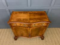 Serpentine Fronted Burr Walnut Side Cabinet c.1930 (2 of 13)