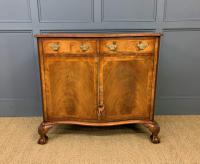 Serpentine Fronted Burr Walnut Side Cabinet c.1930 (3 of 13)