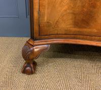 Serpentine Fronted Burr Walnut Side Cabinet c.1930 (5 of 13)