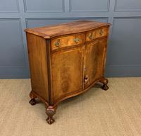 Serpentine Fronted Burr Walnut Side Cabinet c.1930 (8 of 13)