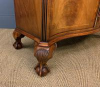Serpentine Fronted Burr Walnut Side Cabinet c.1930 (9 of 13)