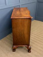 Serpentine Fronted Burr Walnut Side Cabinet c.1930 (10 of 13)