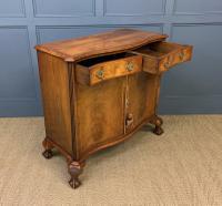Serpentine Fronted Burr Walnut Side Cabinet c.1930 (12 of 13)