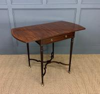 Flame Mahogany Pembroke Flap Table c.1900
