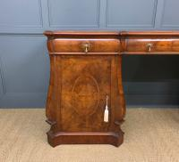 Large Burr Walnut Pedestal Sideboard (4 of 18)