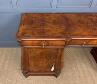 Large Burr Walnut Pedestal Sideboard (8 of 18)