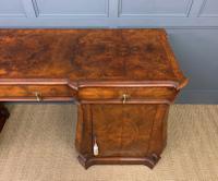 Large Burr Walnut Pedestal Sideboard (9 of 18)