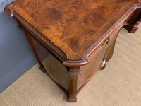 Large Burr Walnut Pedestal Sideboard (10 of 18)