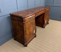 Large Burr Walnut Pedestal Sideboard (14 of 18)
