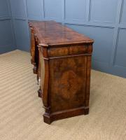 Large Burr Walnut Pedestal Sideboard (15 of 18)