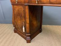 Large Burr Walnut Pedestal Sideboard (16 of 18)