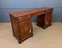 Large Burr Walnut Pedestal Sideboard (17 of 18)