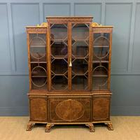 Waring & Gillow Burr Walnut Breakfront Bookcase (2 of 19)