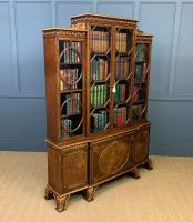 Waring & Gillow Burr Walnut Breakfront Bookcase (10 of 19)
