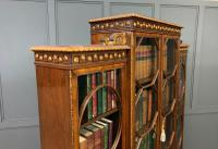 Waring & Gillow Burr Walnut Breakfront Bookcase (11 of 19)