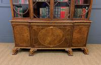 Waring & Gillow Burr Walnut Breakfront Bookcase (14 of 19)