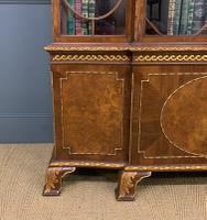 Waring & Gillow Burr Walnut Breakfront Bookcase (15 of 19)