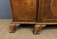 Waring & Gillow Burr Walnut Breakfront Bookcase (16 of 19)