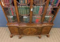 Waring & Gillow Burr Walnut Breakfront Bookcase (17 of 19)
