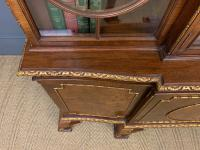 Waring & Gillow Burr Walnut Breakfront Bookcase (18 of 19)