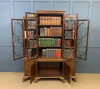 Waring & Gillow Burr Walnut Breakfront Bookcase (19 of 19)
