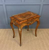 Victorian Inlaid Burr Walnut Jardiniere