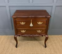 Carved Mahogany 2 Drawer Chest c.1900 (2 of 13)