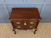 Carved Mahogany 2 Drawer Chest c.1900 (3 of 13)