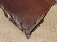 Carved Mahogany 2 Drawer Chest c.1900 (11 of 13)