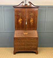 Georgian Inlaid Mahogany Bureau Bookcase (2 of 29)